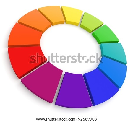 Color Wheel 3D. See my portfolio for more color wheels. - stock photo