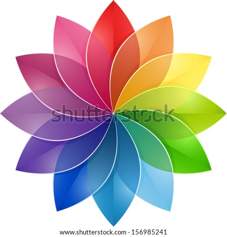 Color Wheel Flower - stock photo