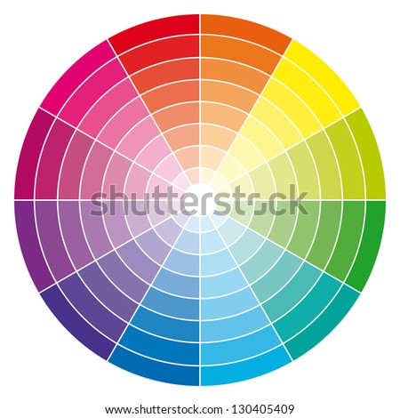 Color wheel illustration. - stock photo