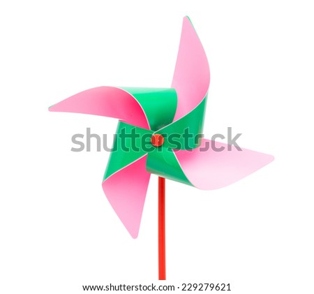 Color windmill Isolated on white background - stock photo