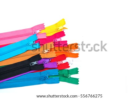 color zipper on white background, Tailoring