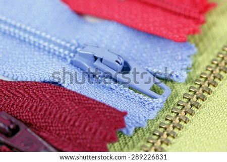 Color zippers  - stock photo