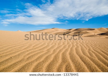 Colorado great sand dunes park on a early summer day - stock photo