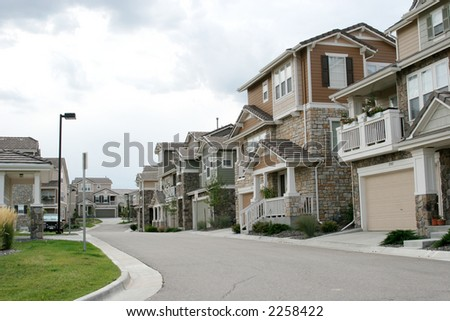 Colorado homes - stock photo
