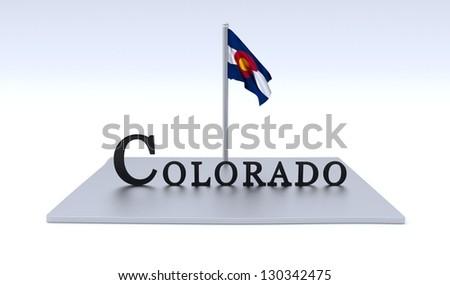 Colorado map - stock photo
