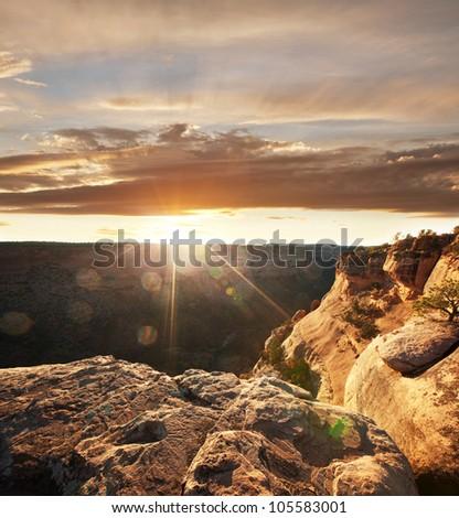 Colorado Monument in USA - stock photo