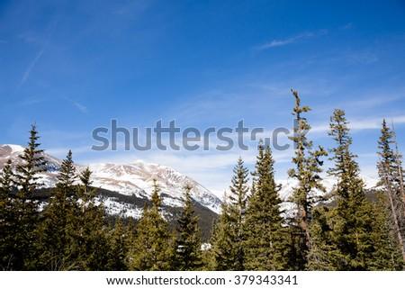 Colorado Mountain Range - This is a beautiful image of a Colorado mountain range on a cool fall day. - stock photo