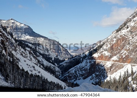 Colorado mountains and the Million Dollars Drive - stock photo
