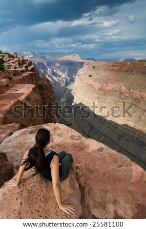 Colorado River and Grand Canyon at Toroweap - stock photo