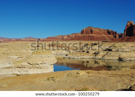 Colorado River and rocks, Utah