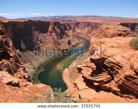 Colorado river at the beginning of Grand Canyon - stock photo