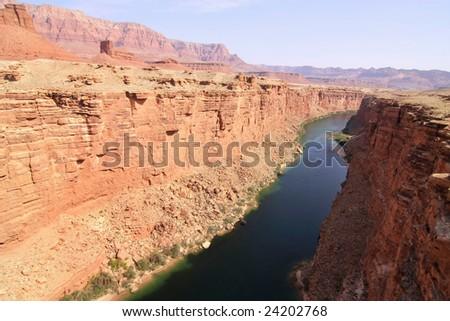 Colorado river canyon, scenic landscape. - stock photo