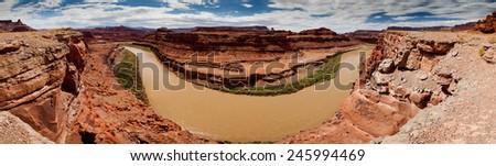 Colorado River Canyonlands - stock photo