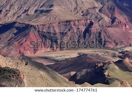 Colorado river, Grand Canyon - stock photo