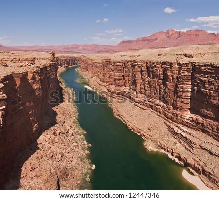 Colorado River in Marble Canyon. - stock photo