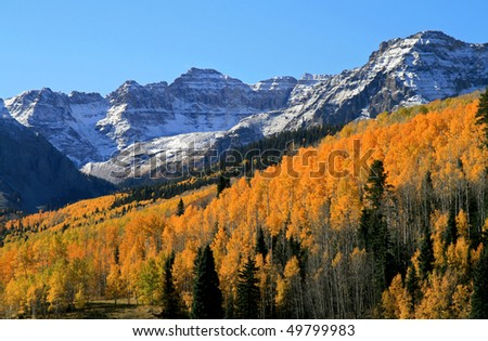 Colorado Rockies in Autumn - stock photo