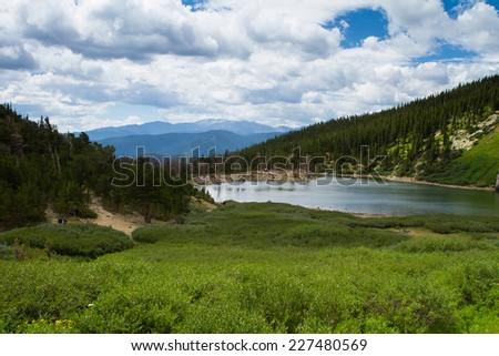 Colorado Rocky Mountain Glacial Lake - stock photo