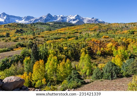 Colorado Rocky Mountain Landscape in Autumn - stock photo
