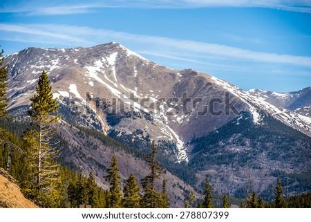 colorado rocky mountains near monarch pass - stock photo