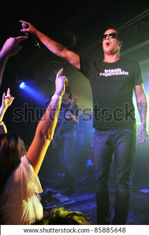 COLORADO SPRINGS, CO. USA – SEPT 24:	Vocalist Kevin Martin of the Rock Band Candlebox performs in concert September 24, 2011 at the Black Sheep Theater in Colorado Springs, CO. USA