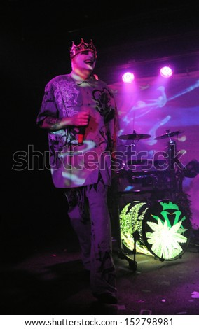 COLORADO SPRINGSNOVEMBER 30:Rapper Daddy X of the Alternative band the Kottonmouth Kings performs in concert November 30, 2011 at the Black Sheep music hall in Colorado Springs CO. - stock photo