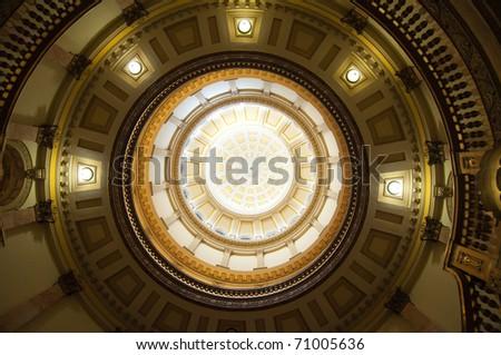 Colorado State Capitol Building rotunda dome - stock photo