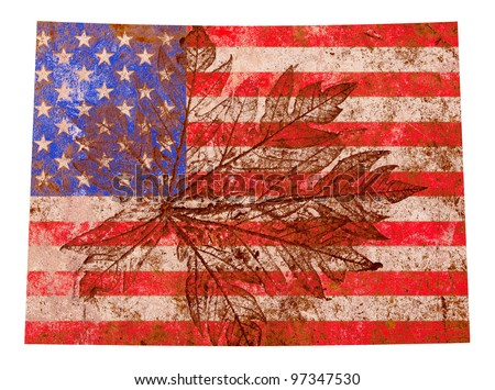 Colorado state of the United States of America in grunge flag pattern isolated on white background - stock photo