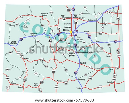 Colorado Map Stock Images RoyaltyFree Images Vectors - Colorado on a us map