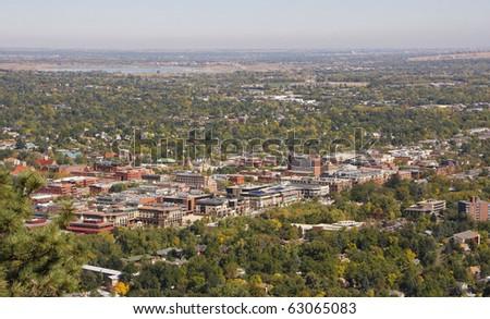Colorado University Aerial View - stock photo