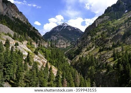 Colorado Valley Road in Summer - stock photo