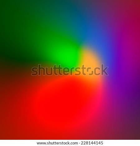 Colored Abstract Background Tones - Colorful Artistic Red Green Blue Backdrop - Modern Illustration Concept - Spectrum Color Blend Design - Multicolored Soft Lights - Bokeh of Light - Neon Glow - stock photo