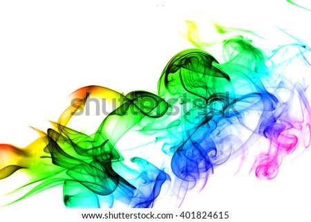 Colored abstract smoke