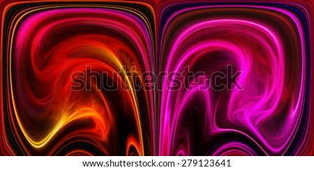 Colored and mirrored background - stock photo