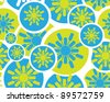 colored and modern Retro floral seamless background, Raster version - Vector version is also available. - stock photo