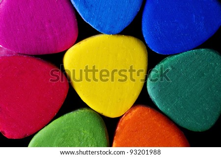 Colored background with vibrant colors and great light