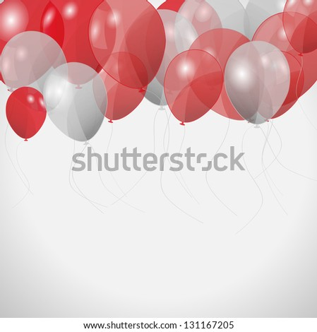 colored balloons,  illustration - stock photo
