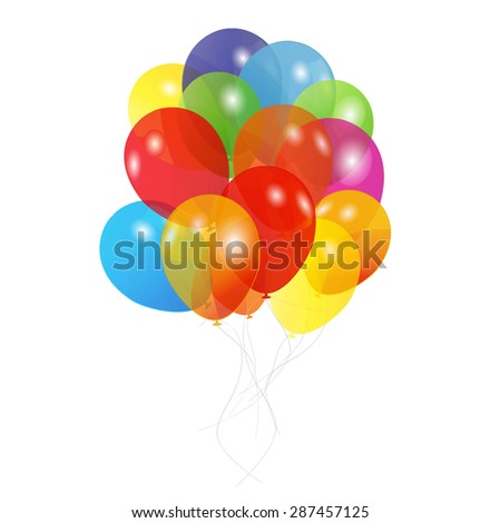 Colored Balloons,  Illustration