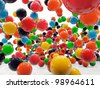 colored balls isolated on white background - stock vector