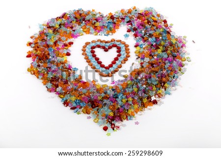 colored beads - stock photo