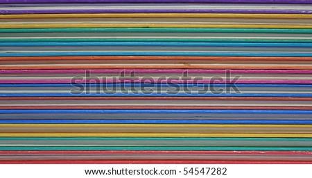 Colored books - stock photo