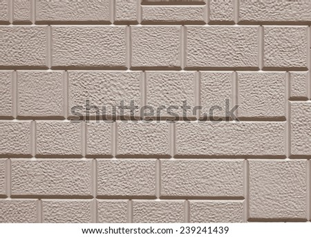 colored  brick wall  , elevation color - background, texture - stock photo