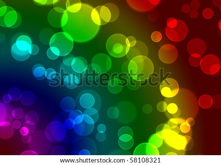 Colored Bubbles Background Design