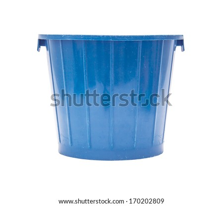 colored bucket with handle - stock photo