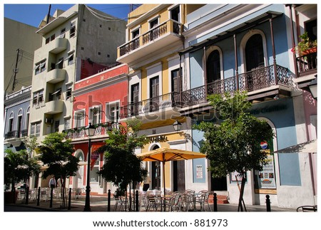 Colored Buildings - stock photo
