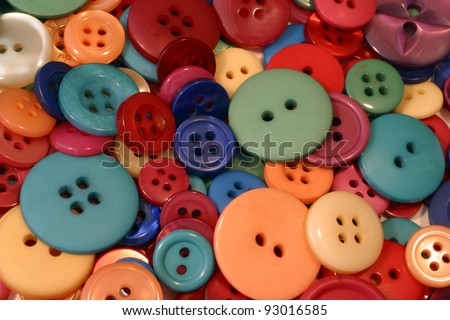 Colored Buttons - stock photo