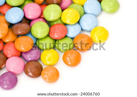 colored candies - stock photo