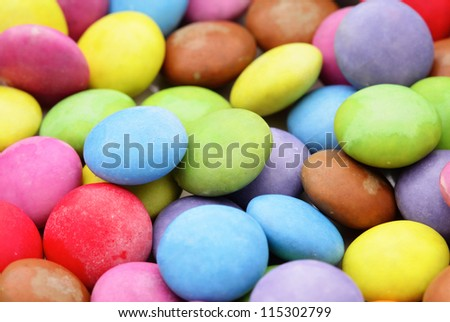colored candy - stock photo