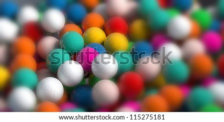 colored candy gum balls - stock photo