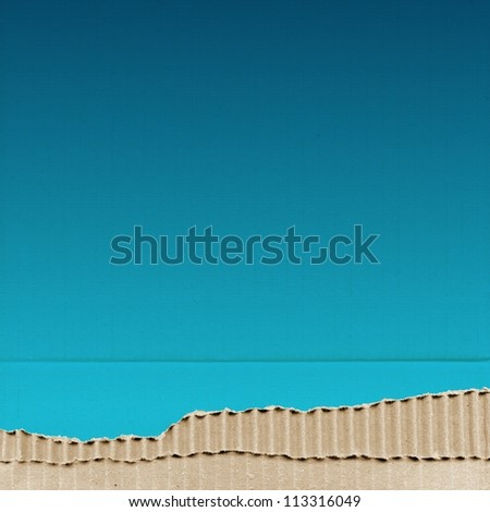 colored cardboard background paper texture - blue - stock photo