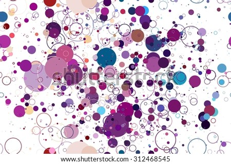 colored circle seamless pattern. seamless pattern of colored circles on a white background. Raster version - stock photo
